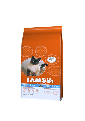 Iams Cat Food ProActive Health Adult with Wild Ocean Fish and Chicken, 15 kg 4