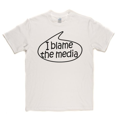 I Blame The Media TV Rebel Anarchy Lifestyle Resistance T-shirt Weiß