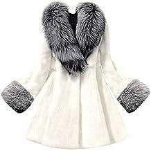 6624fb18216b Millenniums Femme Manteau Cardigan en Fausse Fourrure de Renard Épais Chaud  Hiver Parka Chic Sweatshirt Veste
