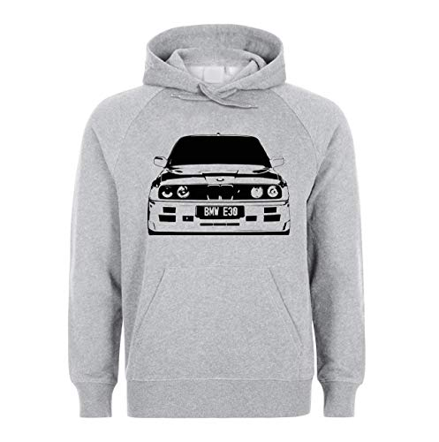 PasTomka E30 3 Black and White Car Unisex Sweatshirt Hoodie Kapuzenpullover X-Large -