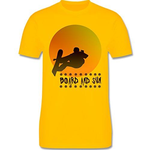 Après Ski - Board and Sun - Herren Premium T-Shirt Gelb