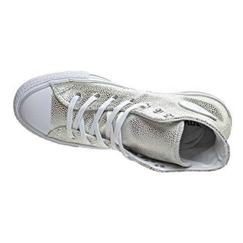 Converse Chucks 553346C CT AS Sting Ray cuir Argent Argent Pur Noir Blanc silver