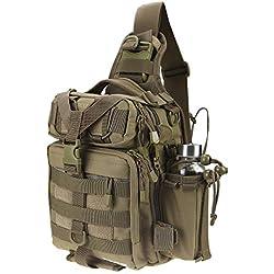 RUNATURE Sacs à bandoulière, Mini Sac à Dos de Fusil pour Homme Sac à bandoulière à Une épaule pour Trekking Randonnée Pêche Sac à Dos Tactique