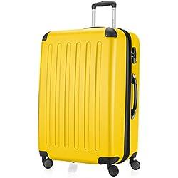HAUPTSTADTKOFFER - Spree - Valise plus Grande, Bagages Rigide, Trolley, ABS, TSA, extensible, extra léger, 4 roues, 75 cm, 125 L, Jaune