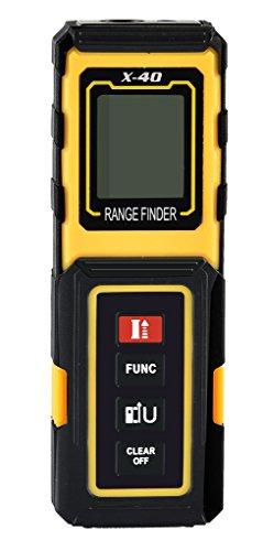 Preisvergleich Produktbild amyamy Elektronische Laser-Entfernungsmesser mit 131ft (40m) Range und Mini Handheld Digital Laser Maßband/Maßband Entfernungsmesser