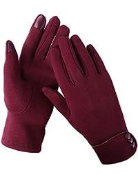 Aibrou Guantes Mujer tactiles Pantalla,Muy Elegantes y cómodas para Invierno,Una Talla