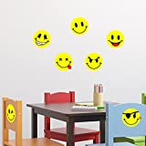 Ambiance-Live Wandtattoo Smileys pack 3 - 20 x 20 cm