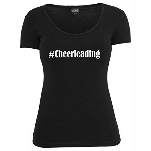 T-Shirt #Cheerleading Hashtag Raute für Damen Herren und Kinder ... in der Farbe Schwarz Schwarz