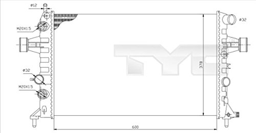 Preisvergleich Produktbild Kühler OPEL ASTRA G Cabriolet (auch Caravan CC Coupe Kasten Stufenheck ZFIR) 06/98-06/05 Motorkühler