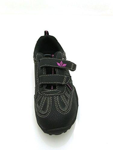 Lico Mädchensneaker Schuhe für Mädchen Leder Sneaker schwarz grau 1788 vfPje