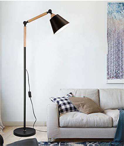 Stehlampe,standleuchte-Architect Swing Arm Stehleuchte mit schwermetallbasiertem, verstellbarem Leselicht für Wohnzimmer, Schlafzimmer, Arbeitszimmer und Büro,Black