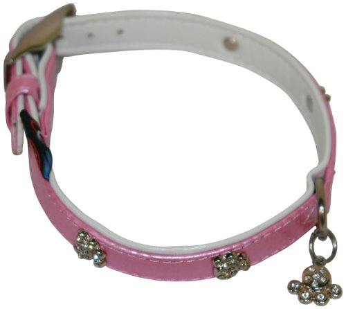 bbd-diamante-paw-collar-14-16-inch-light-pink