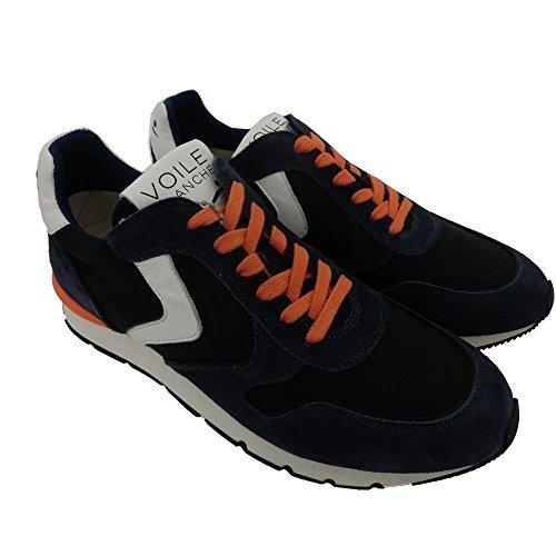 Voile Blanche scarpe uomo 1244 - Sneaker Camoscio Liam Race Velour/Nylon Decol, Indaco-Bleu, 0012010427.019.103, Blu (45)