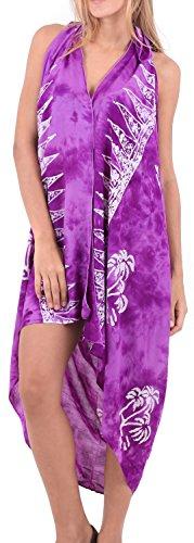 mano floreale dipinta beachwear rayon più il costume da bagno coprire involucro sarong hawaiano Bacca Viola