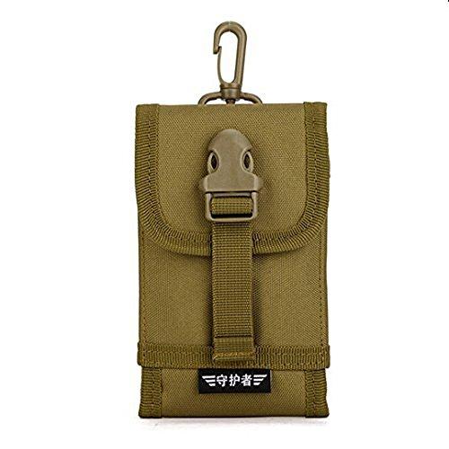 Herren Universal Handy Gürteltasche Tactical Bag Handygürteltasche geeignet für 5/6 zoll smartphone iphone6 plus,Dunkelbraun