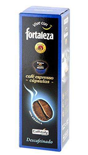 Café Fortaleza Café Descafeinado 100% Arabica - 10 cápsulas