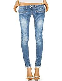 Bestyledberlin Damen Jeans Hosen Skinny Röhrenjeans Hüftjeans Stretch j03ix