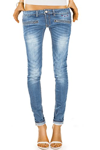 Jeans Hosen Skinny Röhrenjeans Hüftjeans Stretch j03ix 42/XL (Damen Weites Bein Jeans Größe 14)