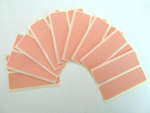 18 Etiquetas, 80x25mm Rectangulo, rosa, extraible / adherencia BAJA código de color PEGATINAS, autoadhesivo Adhesivo Etiquetas Colores