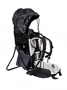 FA Sports, zaino porta bimbo Lil'Boss, con protezione dal sole, colore nero/grigio, 50 x 38 x 90 cm