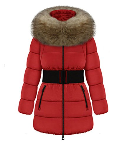 SMITHROAD Damen Winter Mantel Parka jacket Trenchcoat Jacke,Rot 38