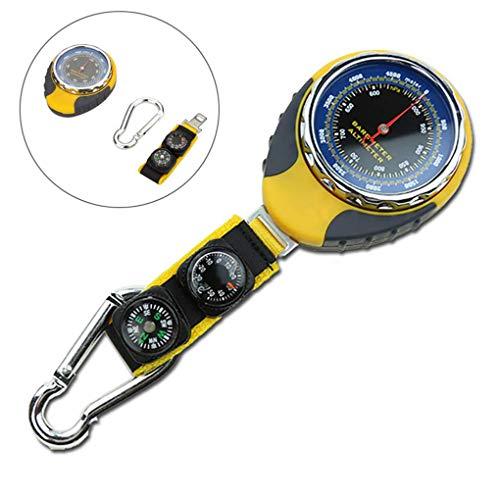 YYAW 4-In-1 Außen Barometer, Luftdruck/Höhe/Kompass/Temperatur Multi-Funktions-Meter Freien Batterie-Auto-Kalibrierung Im Freien Wesentlichen Bewegliche Zubehör