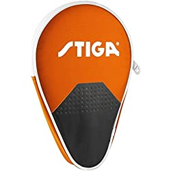 Stiga–Funda redonda Stage naranja para raqueta de Ping Pong