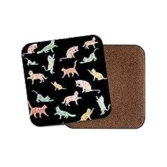 Idea Regalo - Elegante sottobicchiere con gatti - Gattino carino amore cuore animali animali domestici regalo mamma #15376