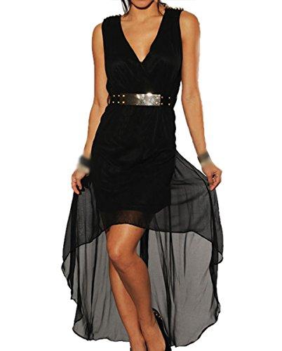 E-Girl D60193 femme mode robe maxi Noir