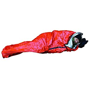 41h0%2BaRqreL. SS300  - Adventure Medical Kits Emergency Bivvy Heatsheets Material Reflects 90% Body Heat Quiet Material Rip Resistant…
