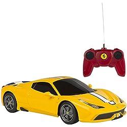Rastar - Coche teledirigido 1:24, Ferrari 458 Speciale A, color amarillo (ColorBaby 75998)