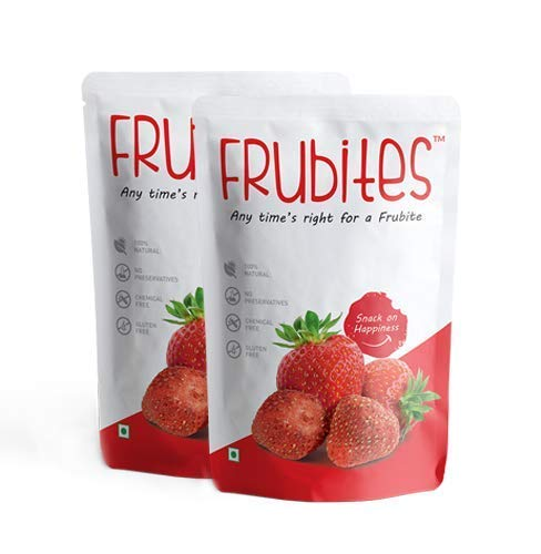 Freeze-Dried Strawberry - Indian Fruit Snacks 16g (Pack of 2)