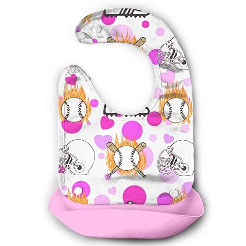 Baseballschuhe mit Helm und Fledermaus, wasserdicht, für Babys, Lätzchen aus Silikon, mit Tasche