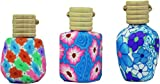 #8: AREO 200 Lemon Grass/Rose / Jasmine/Levender Set of 4 Air Freshener Car Fragrance Bottle Polymer Clay Car Perfume