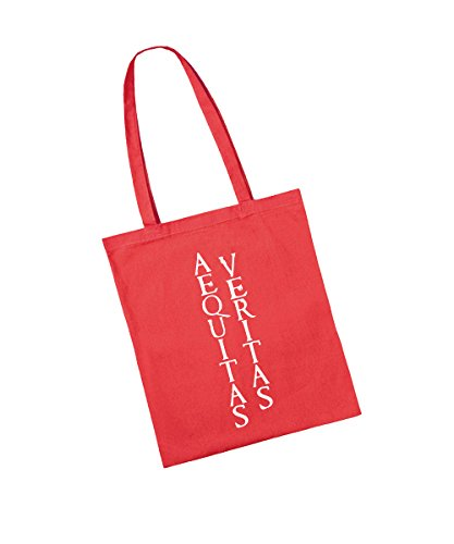 -- Aequitas Veritas -- Baumwolltasche Rot