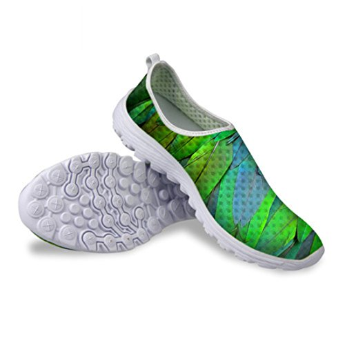Men's Zapatos Mujer Zebra Peacock Design Breathable Sport Shoes CA4894AA