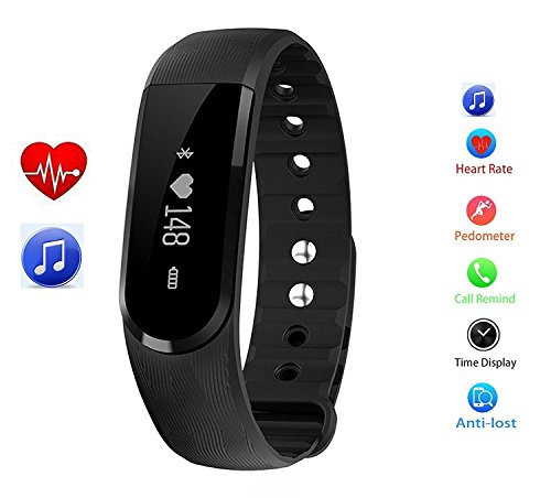 XGUO Braccialetto fitness TouchScreen Activity Tracker 3D Pedometro fitness tracker / smart bracelet / smartwatch con display Oled e Bluetooth 4.0 per Android e IOS - Nero