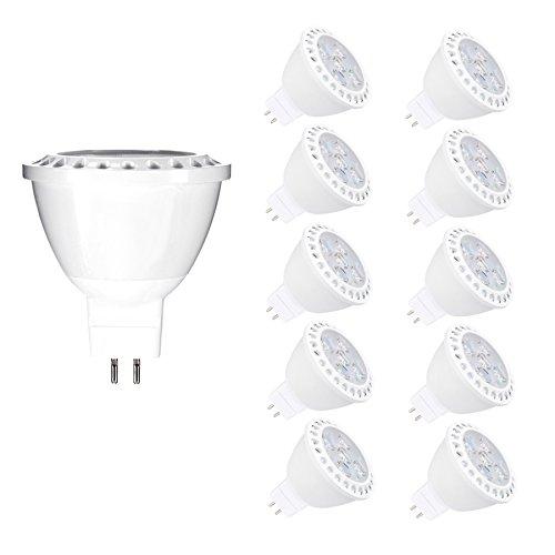MR16 LED Lampe Warmweiß 6W Ersetzt 50W Halogen Lampen GU5.3 LED Birne Leuchtmittel 3000K AC DC 12V 450 Lumen 38 ° Abstrahlwinkel 10er Pack (6-licht Halogen-anhänger)