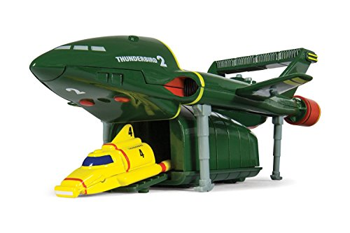 """Image of Hornby """"Corgi Thunderbirds TB2 and TB4"""" Die Cast Model (Green/Yellow)"""
