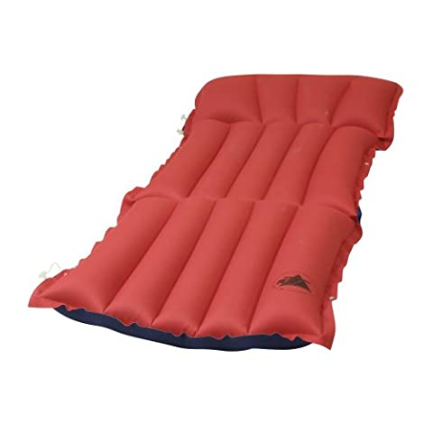 10T Outdoor Equipment 10T Ruby Sit+Lie - Cotton air mattress sun lounger with a top and backrest function, 186x60x13 cm Airbed - Red, Standard