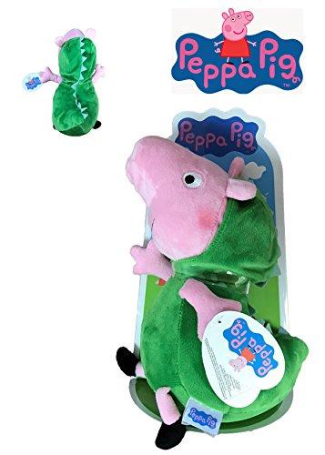 Peppa Pig - Peluche George disfrazado de Dinosaurio 27cm Blister - Calidad super soft