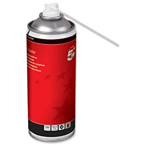 5 Star Air Duster Can HFC Free Compressed Gas Flammable 400ml (Pack of 4)