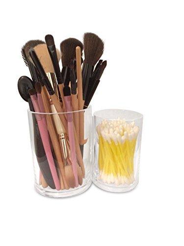Oi LabelsTM claro 2en 1acrílico cosméticos almohadillas/almohadilla de algodón/lana/soporte/dispensador (con de alto grado 3mm acrílico)