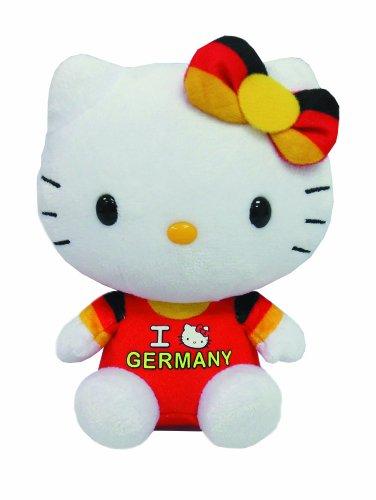 TY 46246 - Exklusive City-Hello Kitty Baby - Germany mit Schleife, Plüsch, 15 cm, (Schwarze Hello Kitty Katze)