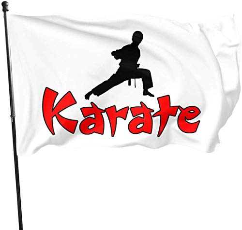 Oaqueen Flagge/Fahne, Karate Home Garden Yard Flags 3 X 5 Feet Pennants Indoor Outdoor Fall Flags Wall Banners Decoration