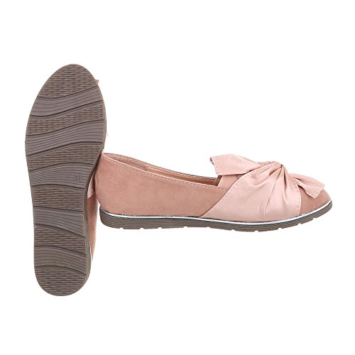 Pantofola Pantofola Italiana Corsivo Slittino Moderno Mocassino Rosa