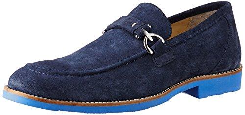 Woodland Men's Navy Blue Leather Suede Loafers – 8 UK/India (42 EU) 41h03z 2BFJoL