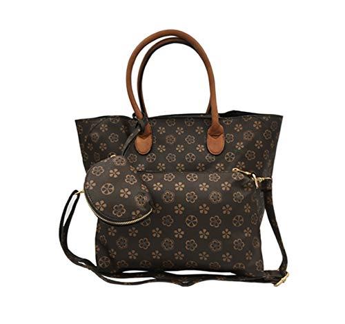 1e6dce8daad71 Dudlin Damen Handtasche Handtasche Schultertasche Designer Tote Satchel  Hobo Bag Aktentasche Arbeitstasche für Damen (Brown