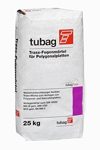 Fugenmörtel Trass für Naturstein Polygonalplatten tubag TFP 25 kg - Fugenmörtel Naturstein