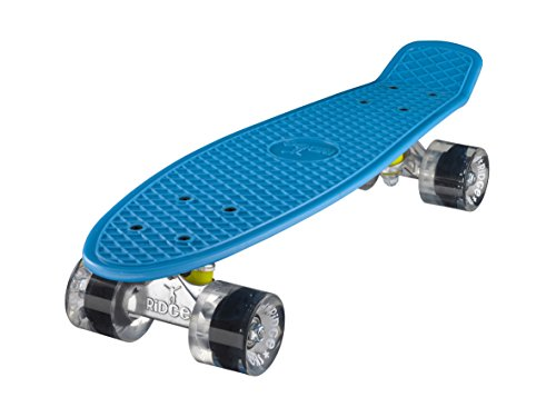 Ridge Skateboard Mini Cruiser, blau-klar, 22 Zoll, R22